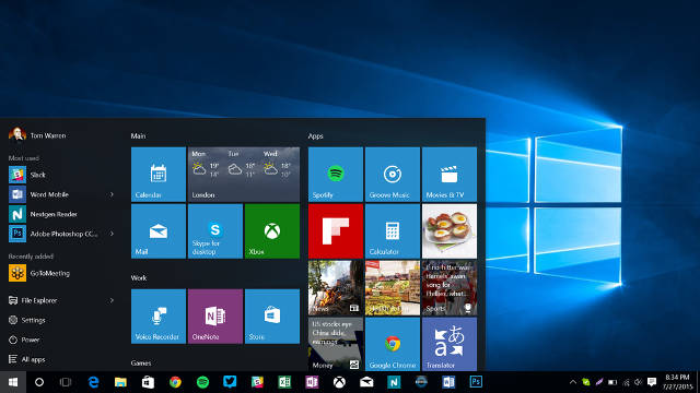 Windows-10-Pusk